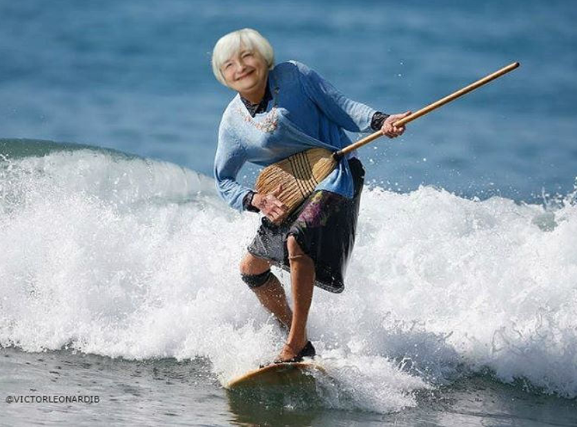 Fed's Yellen: Weak inflation is transitory though there may be something more persistent