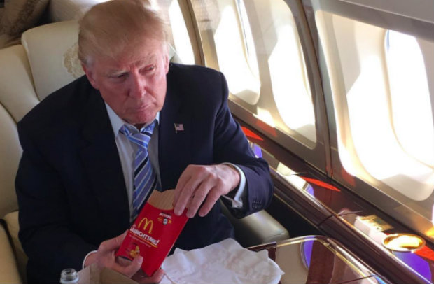 Trump flying to Asia on a foodie trip? He has a preference..