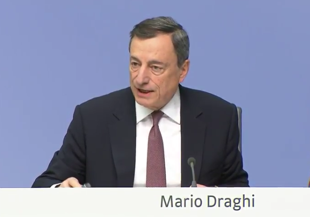 ECB's Draghi: We have not discussed a downturn in the economy