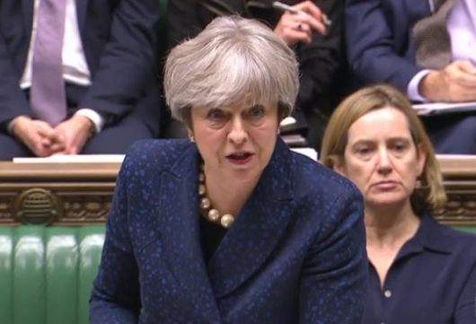 UK's May: Divorce bill is only on the table as part of a future overall agreement
