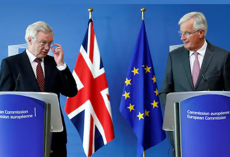 Brexit tennis is alive and well as UK's Davis and EU's Barnier square up