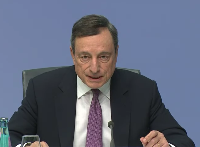 Improvement in economy is one reason behind forex moves says Draghi