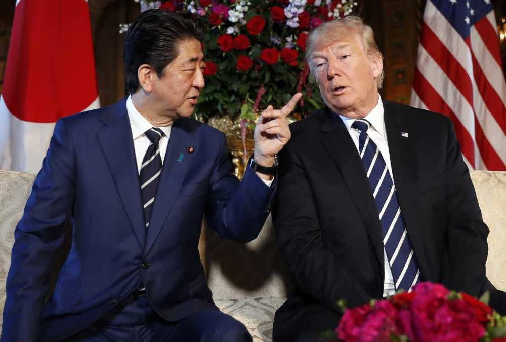 Abe-Trump Visit : I told you I would wear my striped tie!