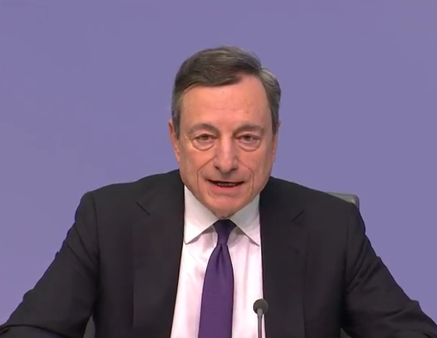 ECB's Draghi: Data points towards moderation of economy