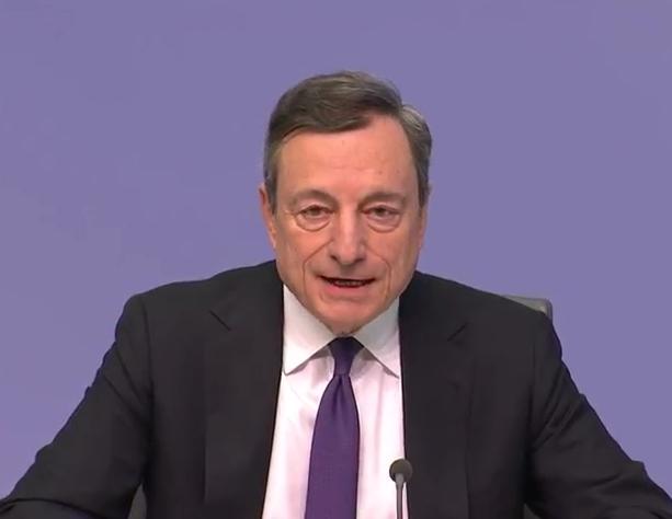 ECB's Draghi: Data points towards moderation of economy
