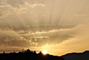 Trading sunset