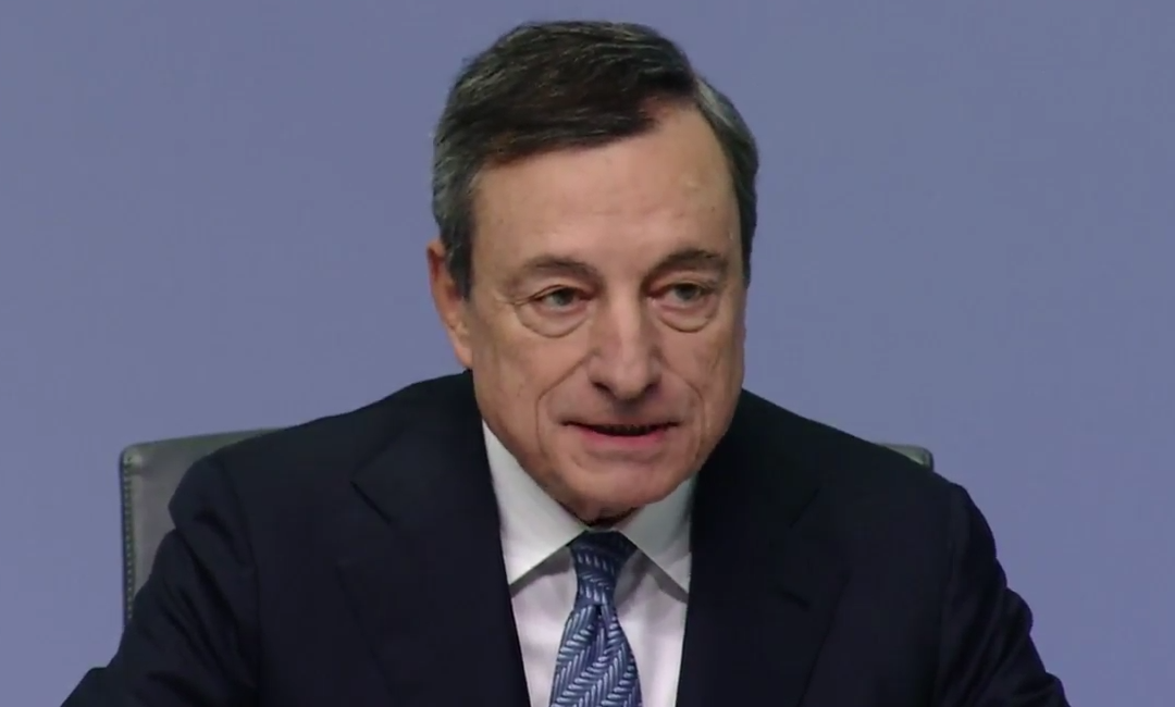ECB's Draghi lightly touches on recent poor data but moves swiftly on